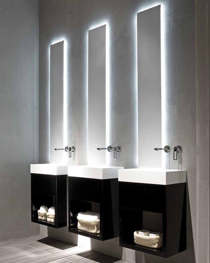 ♂ Black and white modern minimalist bathroom Lavamani - RIFRA - wohnzimmer beleuchtung indirekt