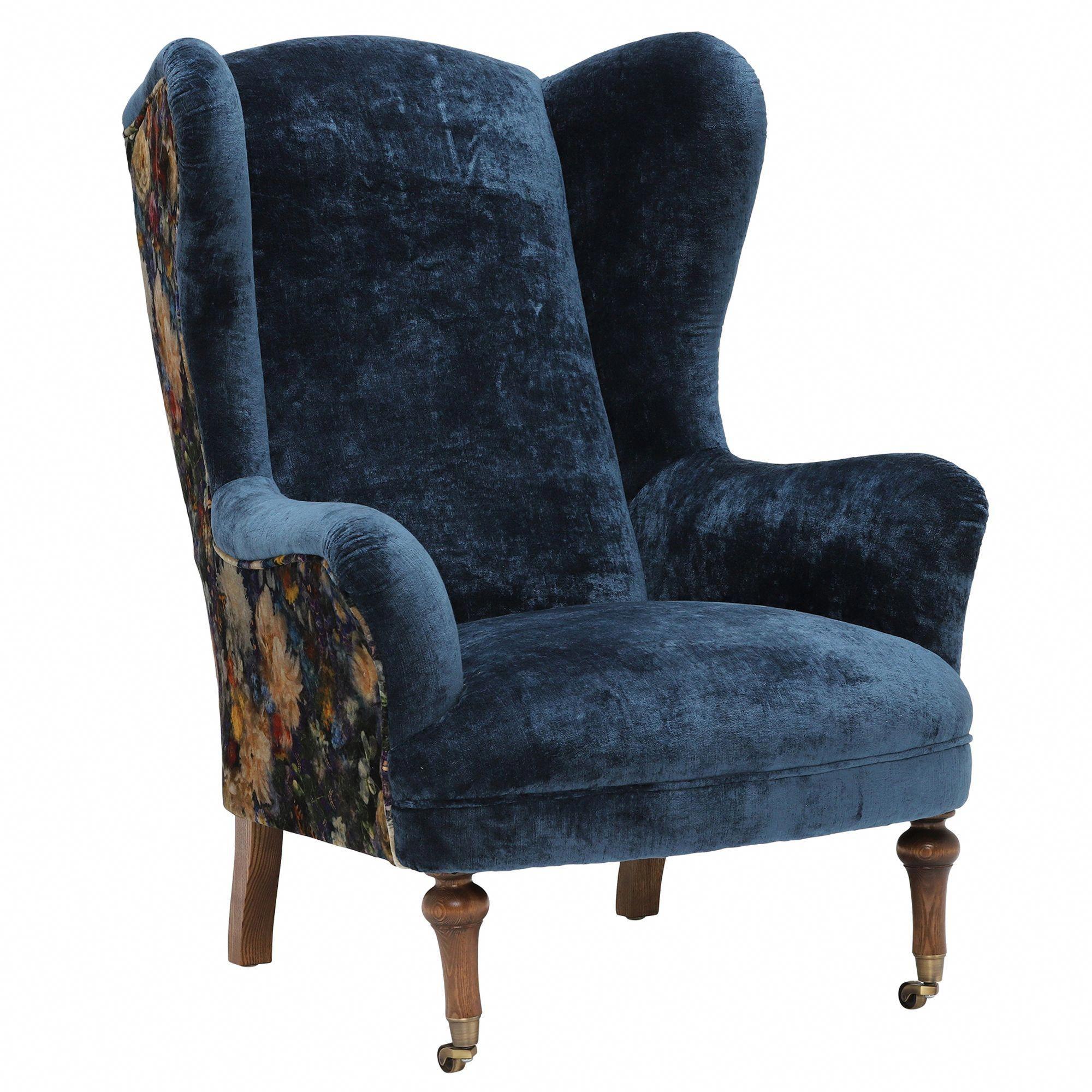 Marchmont Velvet Wingback Chair Barker Stonehouse In 2020 Leather Wingback Chair Wingback Chair Wingback Chair Living Room #wingback #living #room #chairs