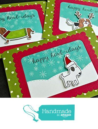 Dog christmas cards set of 3 holiday greeting cards happy dog christmas cards set of 3 holiday greeting cards happy howlidays cards from m4hsunfo
