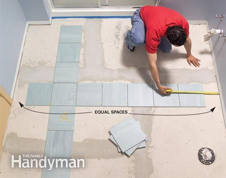 How To Install Ceramic Tile Floor In The Bathroom With Images