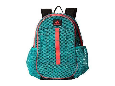 12e2132772 adidas Hermosa Mesh Backpack Hyper Green Red Zest - Zappos.com Free Shipping  BOTH Ways