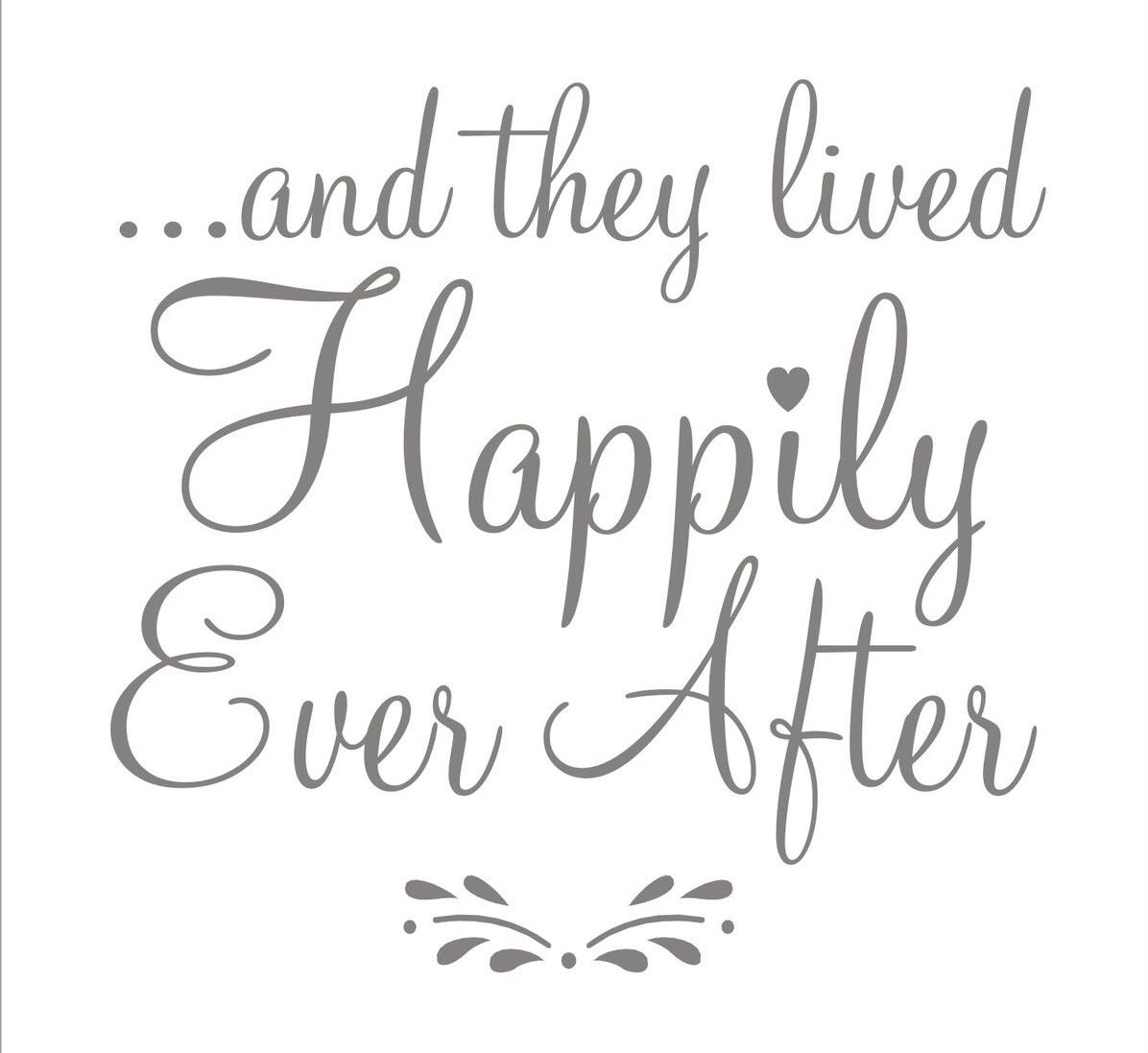 And They Lived Happily Ever After Etsy Happily Ever After Quotes Wedding Stencils Lettering