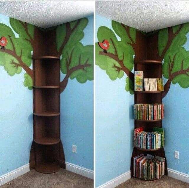 Estante Para Livros Cantinho Da Leitura Arvore Do Saber