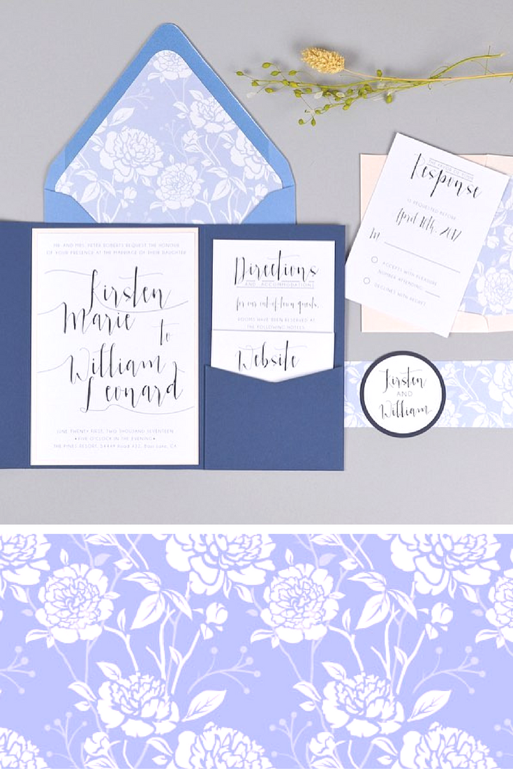 DIY Wedding Invitations with Patterned Paper | Using patterned paper ...
