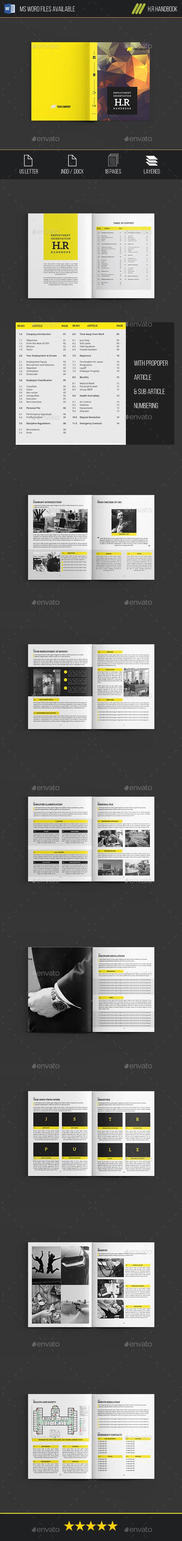 H.R Handbook | Template, Brochures and Brochure template
