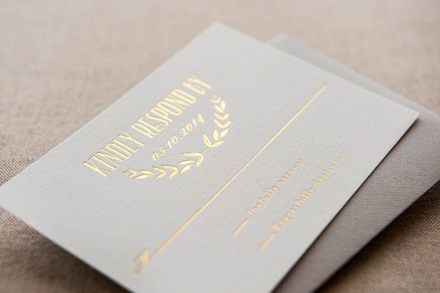 Foiled Invitations // Coronet Foiled Wedding Invitation // Foil ...