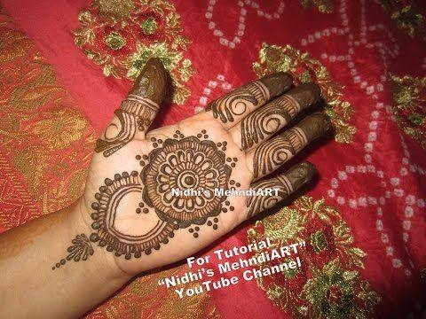 Mehndi Henna Wedding : Youtube easy diy mandala circular bridal mehndi henna design