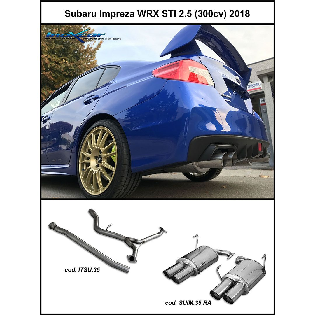 Subaru Impreza WRX STI 2 5 (300cv) 2018 - #Inoxcar