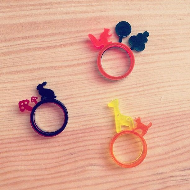 Animal acrylic rings are back in stock. Stack 2 or more to form a landscape right on your finger!