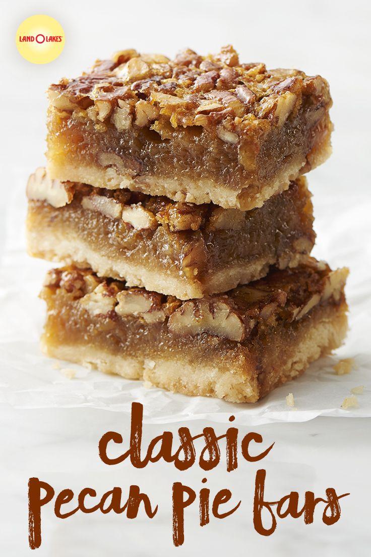 Classic Pecan Pie Bars #thanksgivingfood