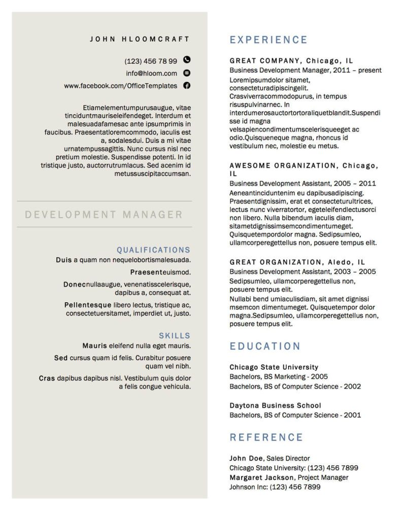 21 Free Résumé Designs Every Job Hunter Needs Resume
