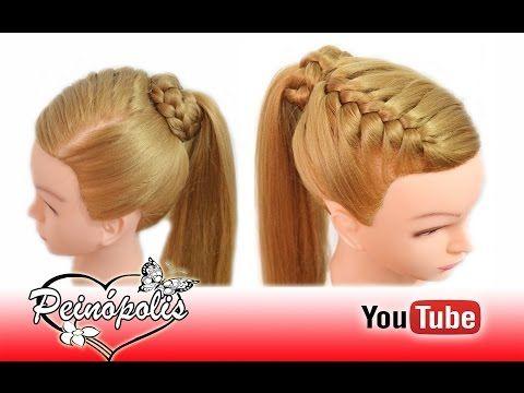 Peinados Faciles y Rapidos y Bonitos para Pelo Chino con Coletas con