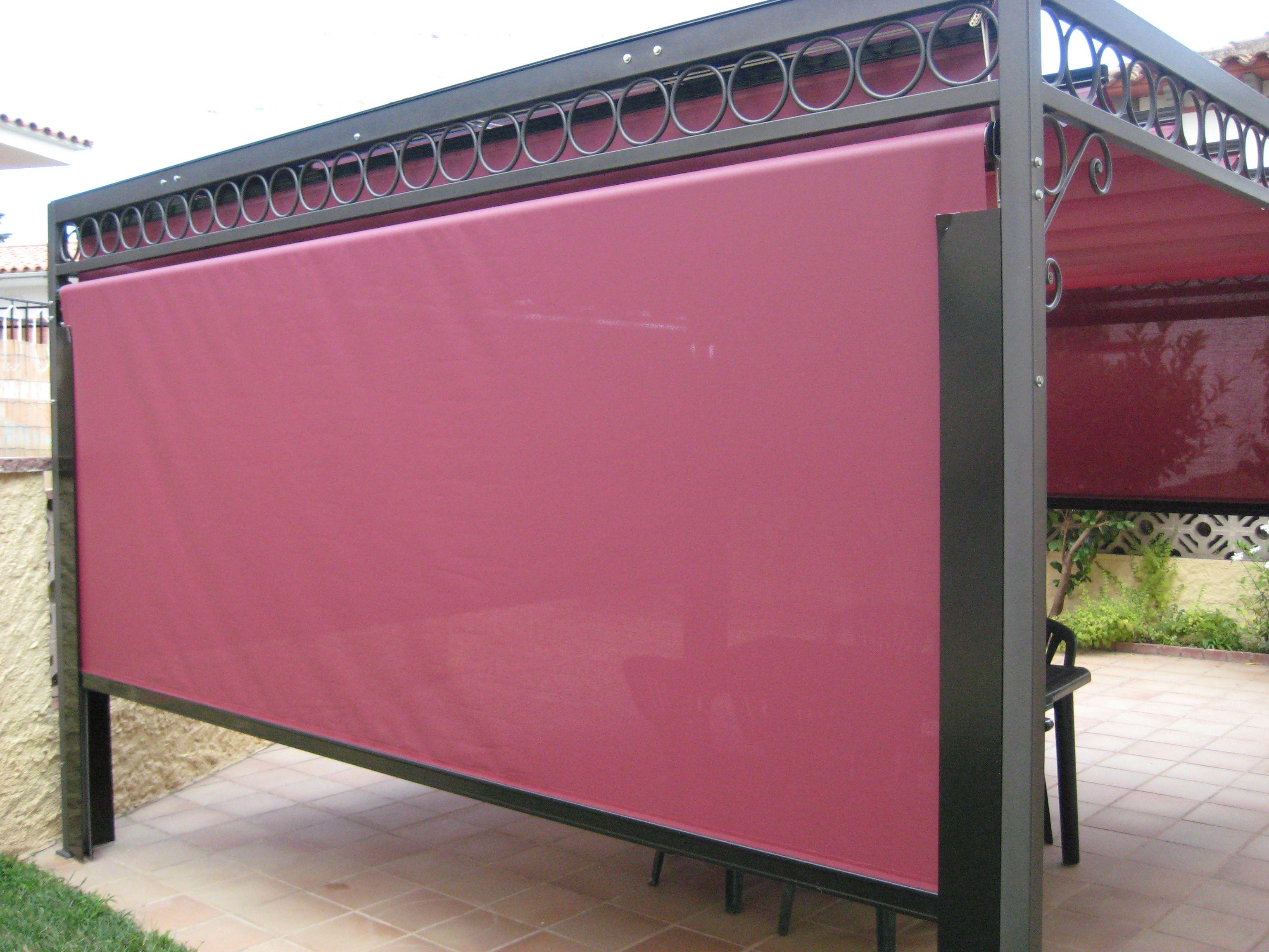 Tipo de toldo vertical cortavientos ofrece una pantalla - Cortavientos terraza ...