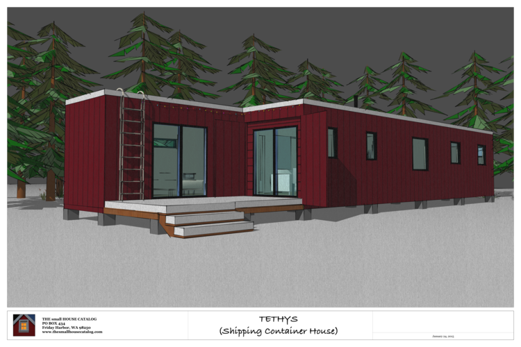 No. 9 - Tethys Shipping Container House | Smallest house, Cargo ...