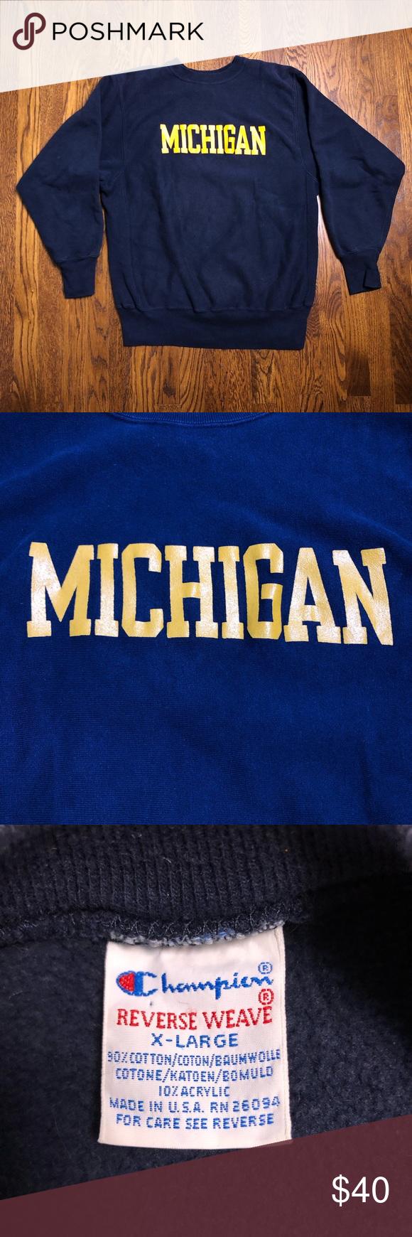 Champion Reverse Weave Michigan Wolverines Champion Reverse Weave Sweatshirt Shirt Michigan Wolverines [ 1740 x 580 Pixel ]