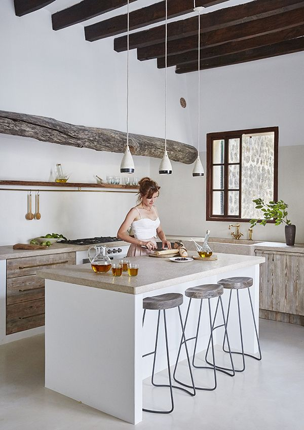 Rustic Kitchen A Beautiful Summer House On Mallorca Spain The