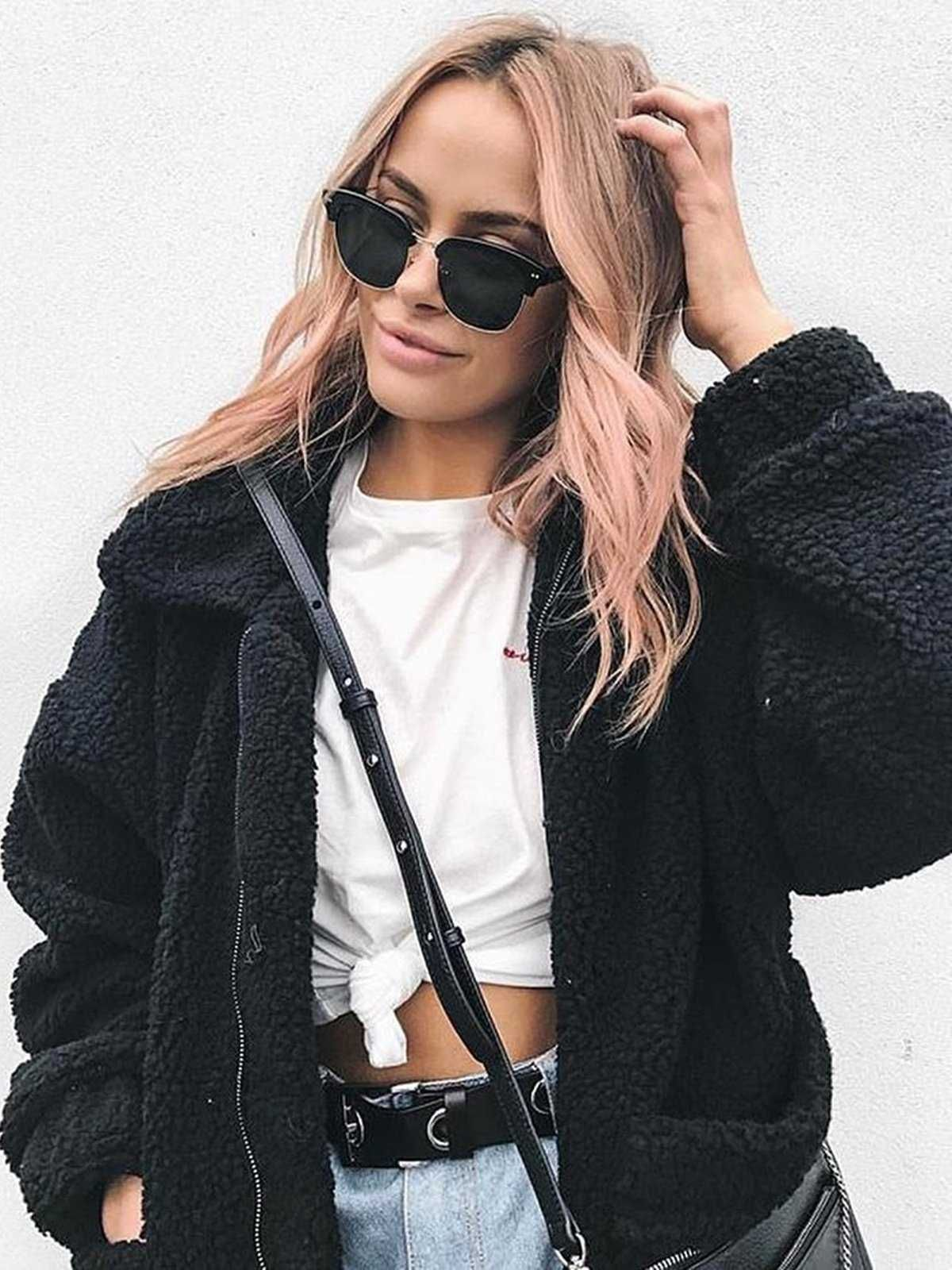 443edaf2b68eb oversized fur coat teddy bears fake fur jacket casual best winter jackets  for women 2018. Last 20 promotion code 15%OFF.Get ready for your fashion  fall ...