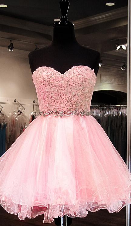 Charming Homecoming Dress Organza Homecoming Dress Lace Homecoming Dress… http://www.coniefoxdress.com