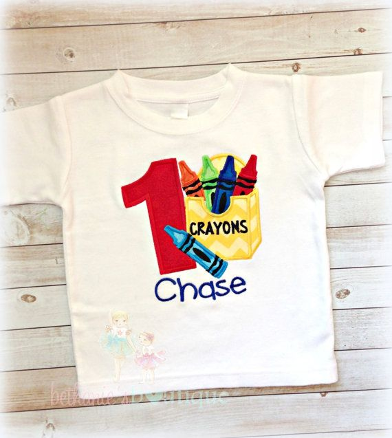Crayon Birthday Shirt