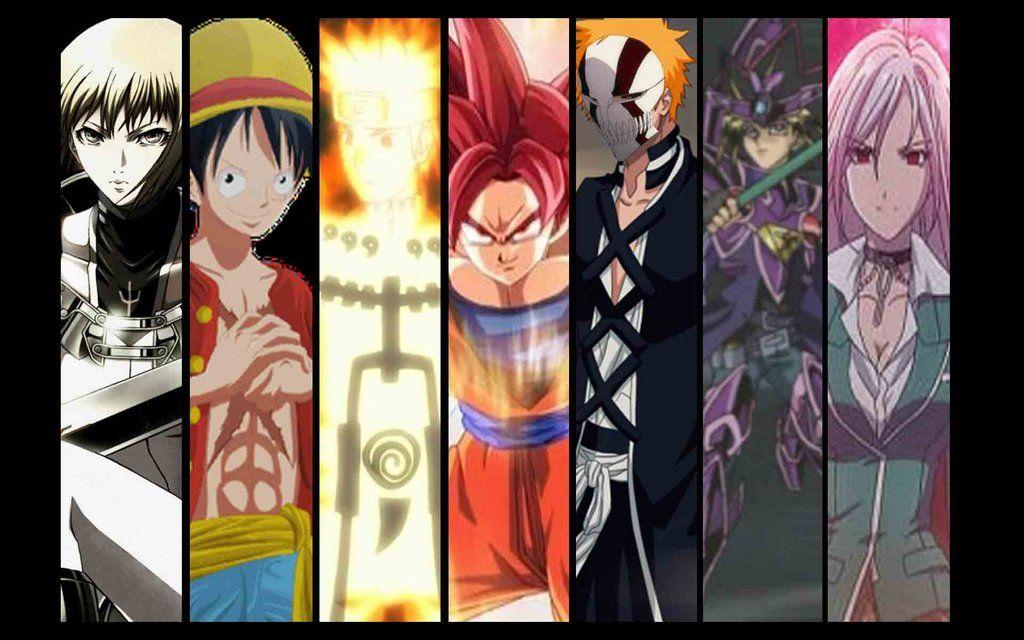 Goku Naruto Luffy Ichigo Natsu Pictures Google Search