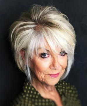 70 antiaging short hairstyles for older women with