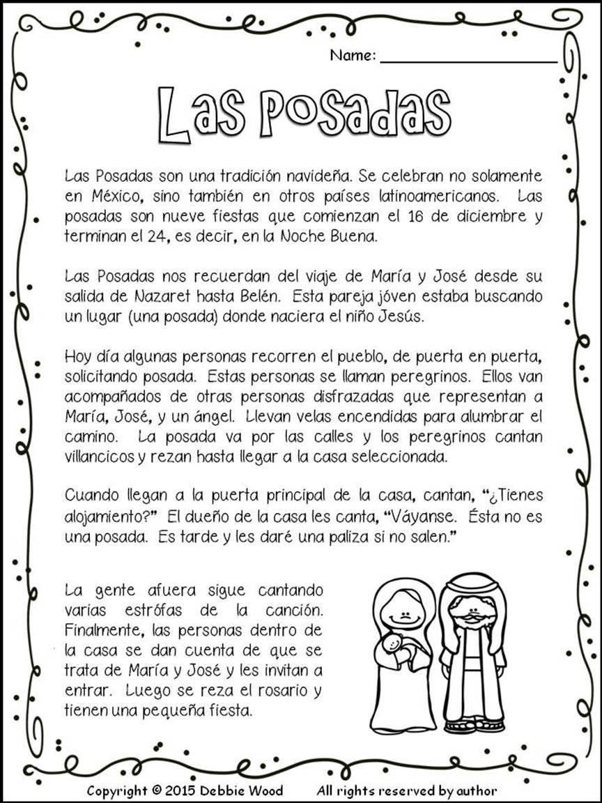 Las Posadas Spanish Learning Activities Spanish Reading Activities Spanish Lesson Plans [ 1152 x 864 Pixel ]