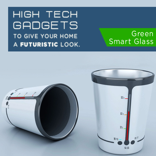 If you are environmentally conscious and always on the lookout for new technologies, you will love  the Green Smart Glass. Using the heat of beverages stored in the glass, this super smart design stores it as a form of energy that can be used later!