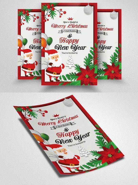 Happy Christmas Flyer Template Flyer Templates Pinterest Flyer