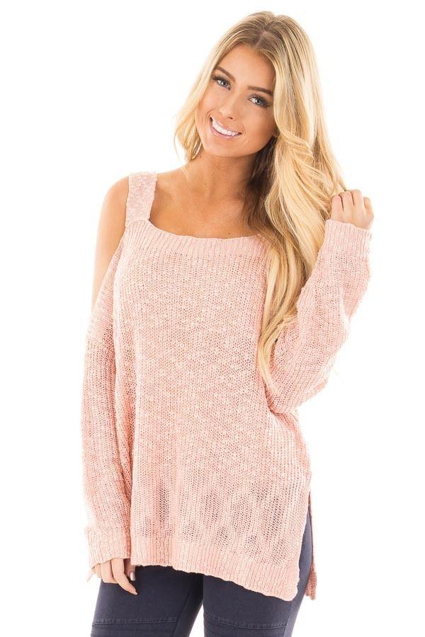 3134f900705d2 Lime Lush Boutique - Blush Cold Shoulder Knit Sweater