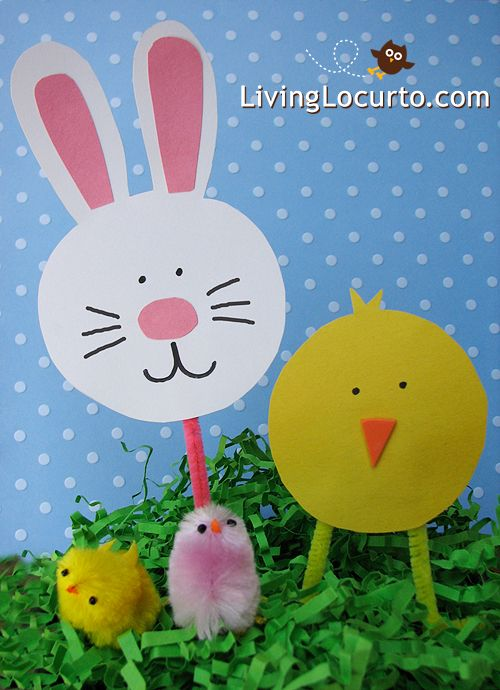 Easy Paper Craft For Kids At Easter Via Livinglocurto Chicks And