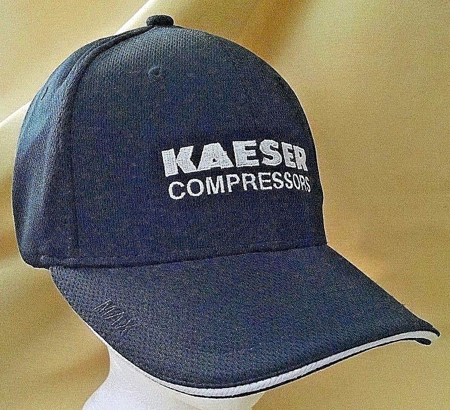 KAESER COMPRESSORS HAT BASEBALL BALL CAP BLACK ADJ STRAP