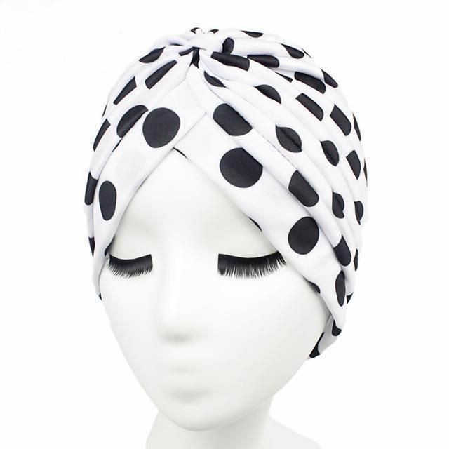 dfd8aa474da A for Attitude (White Polka Dot) Turban Hijab