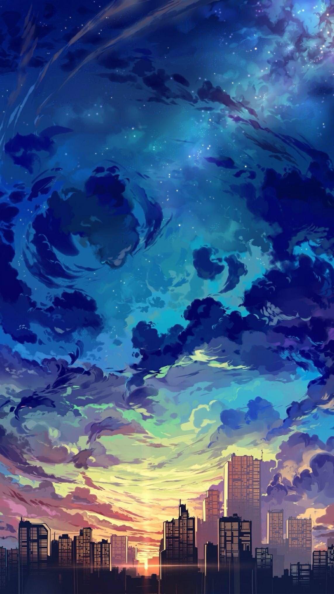 Pin oleh heyyy 🌸 di siluet Pemandangan anime