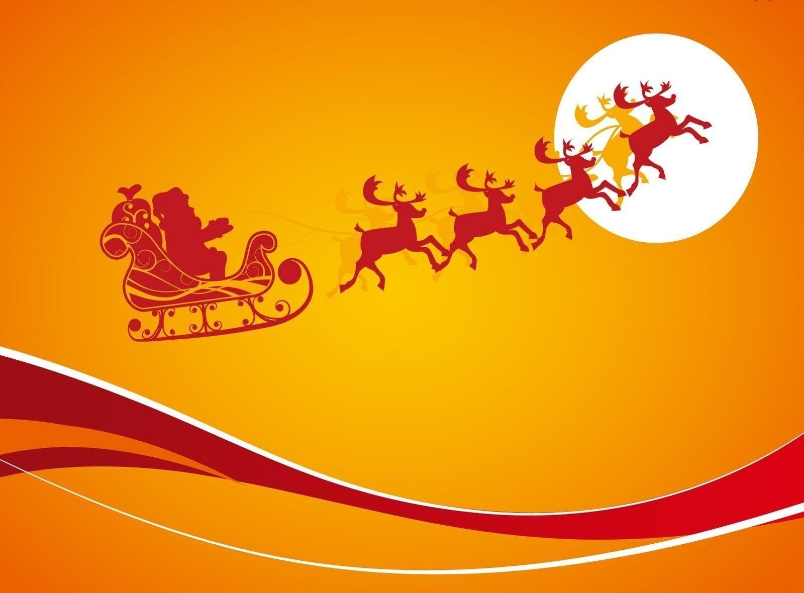 santa claus reindeer sleigh hd wallpaper santa flying reindeer