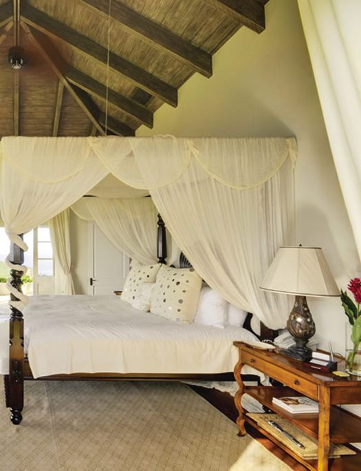 Tropical Villa Getaway On Mustique British Colonial Bedroom Colonial Bedroom British Colonial Style
