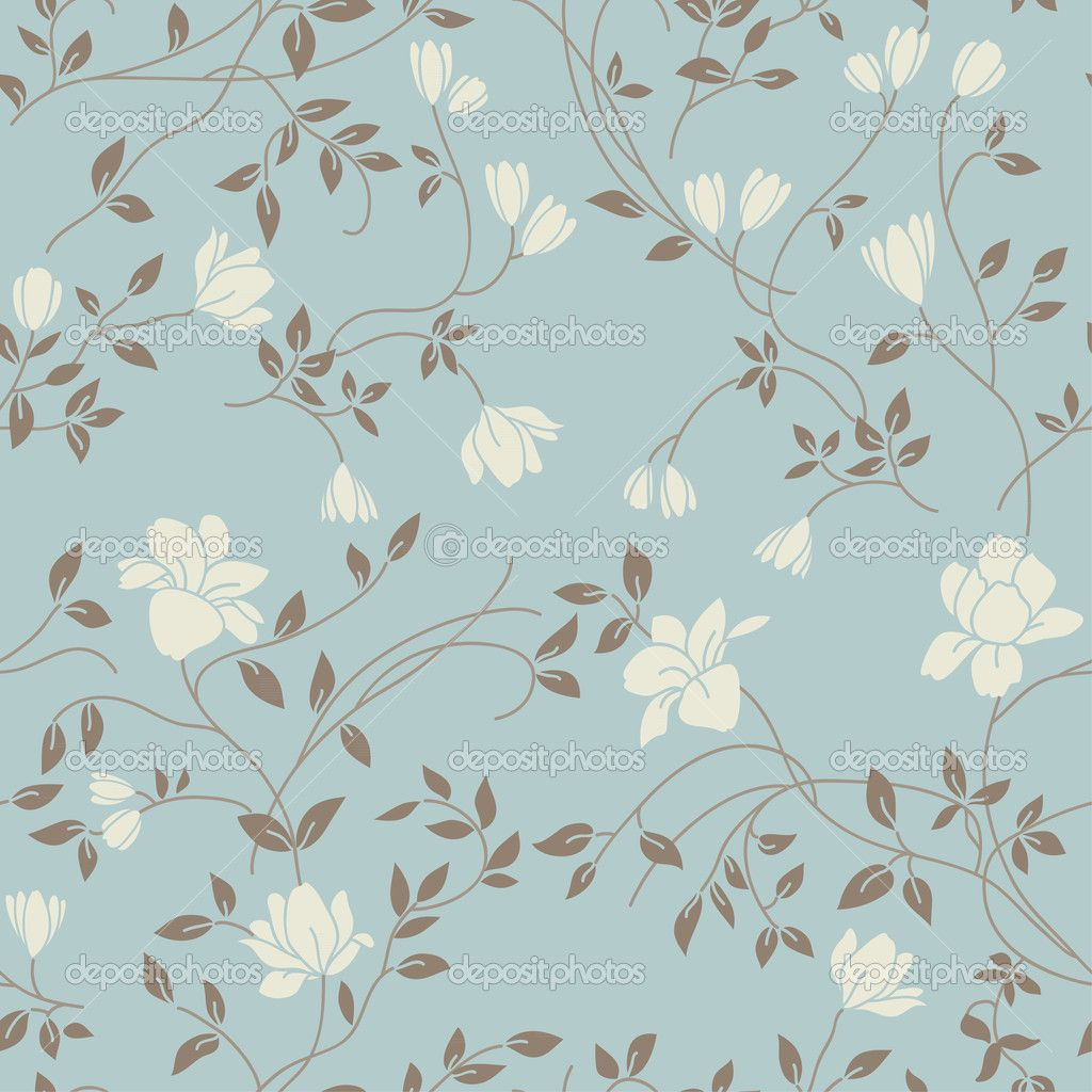 Vintage wallpaper seamless pattern light floral vintage for Wallpaper pattern