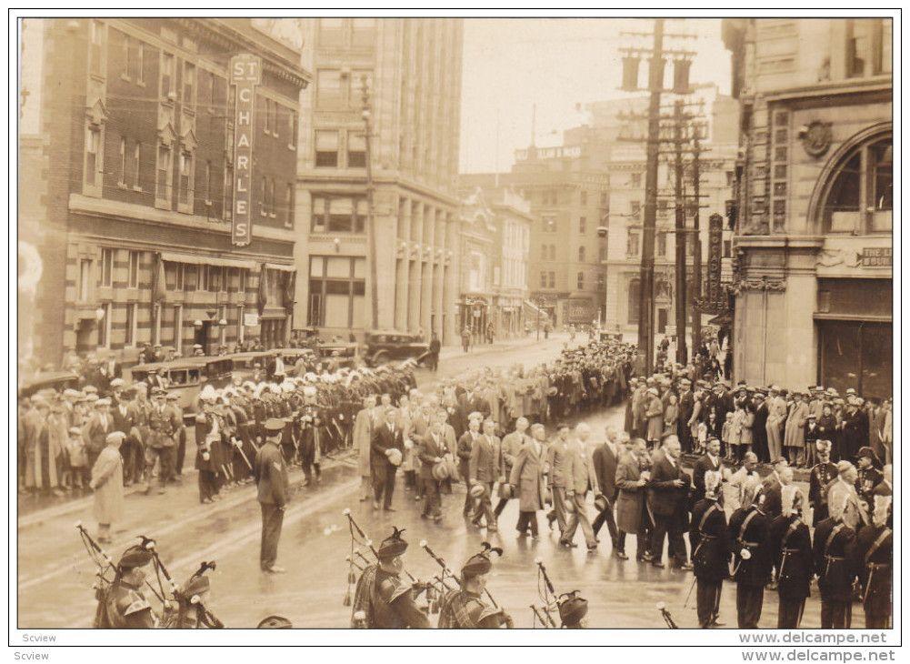 Photo Parade, WINNIPEG, Manitoba, Canada, 1931; Bagpipe