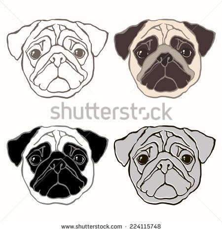Cartoon Pug Google Search Pug Art Pug Tattoo Pugs