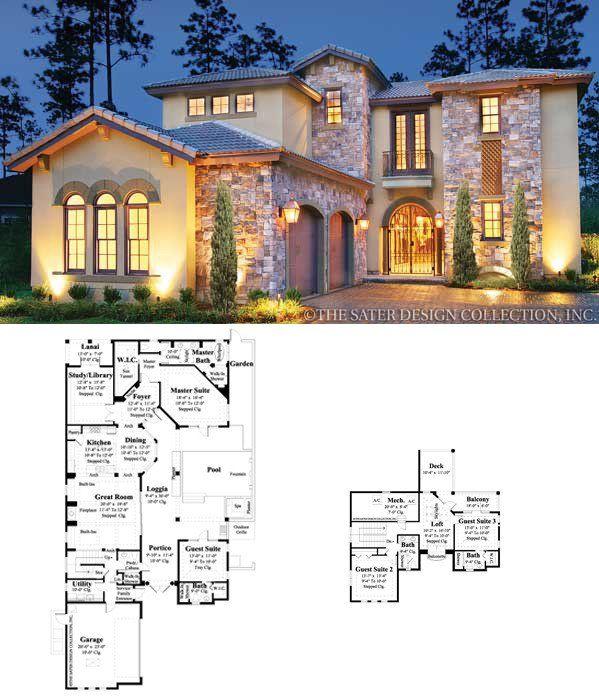 Ferretti House Plan House Plans Mediterranean House Designs Courtyard House