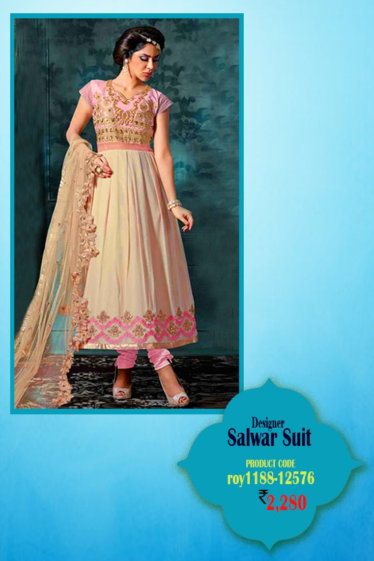 Dress code baby pink  Baby Pink Georgette AnarkaliSuit This beautiful and exquisite
