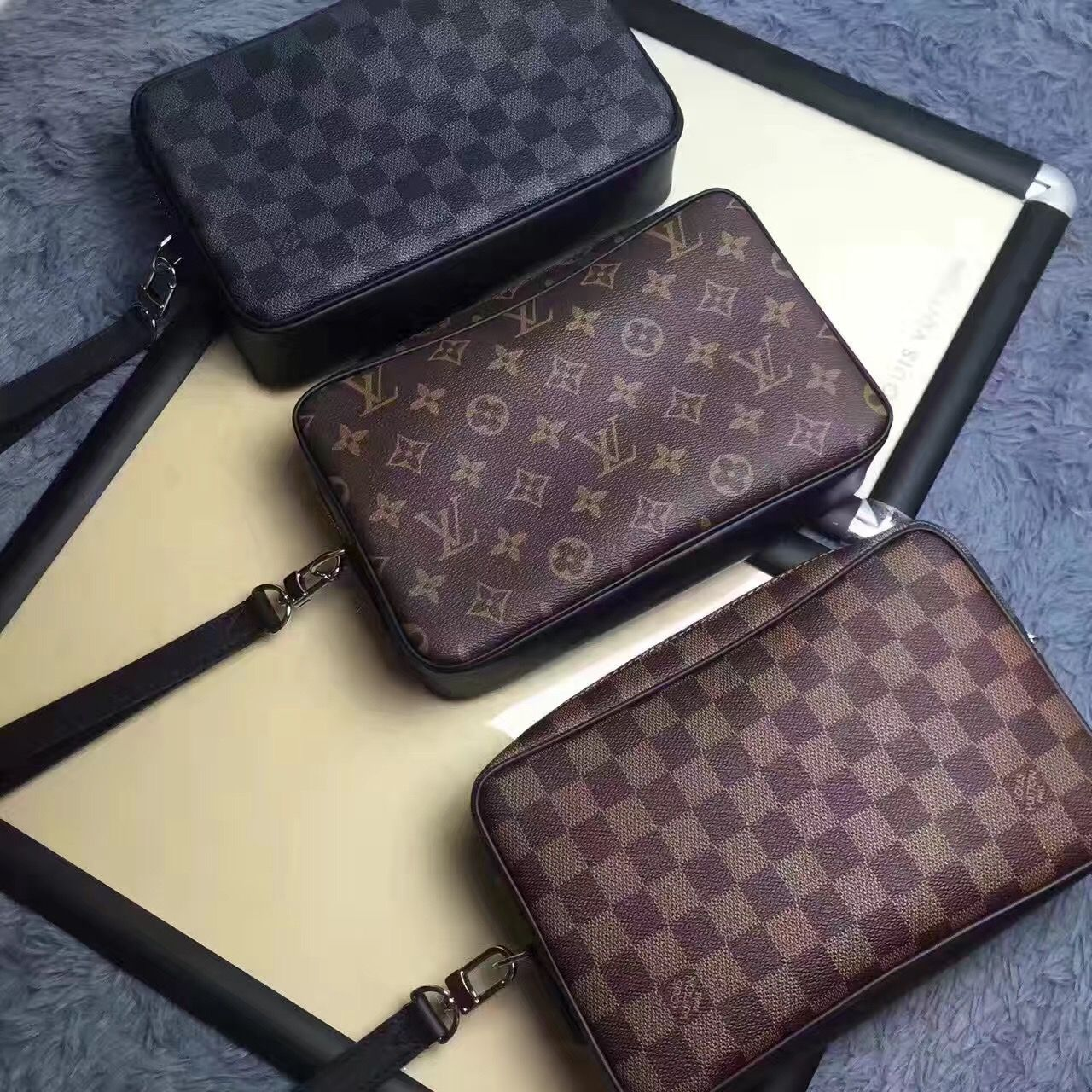 523f1bd38ecb Louis Vuitton man clutch purse handbag original leather