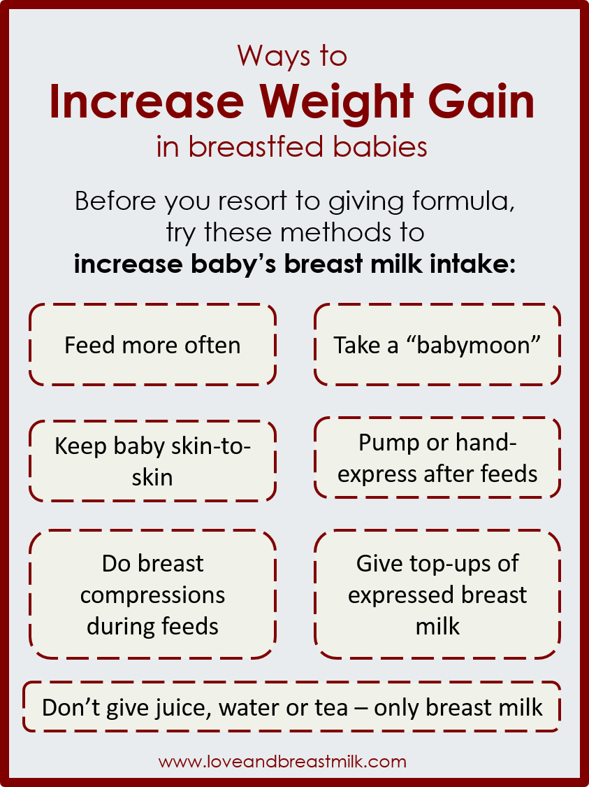 Ways To Increase Weight Gain In A Breastfed Baby Without