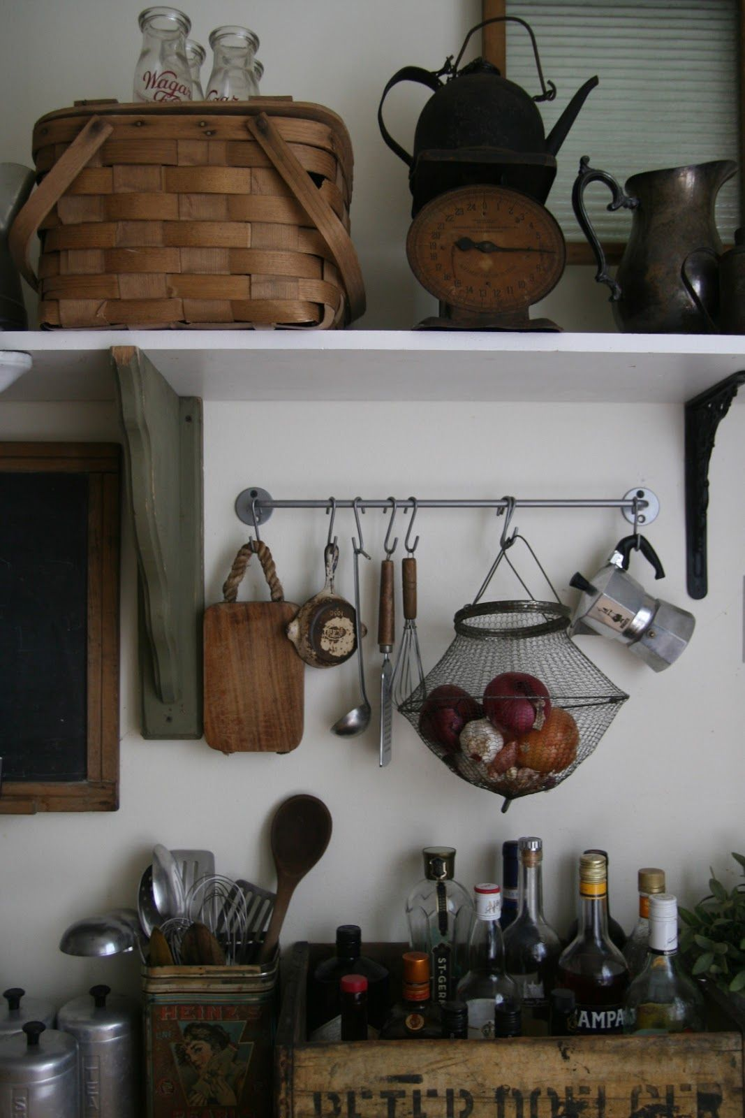 Brooklyn country rustic kitchen rustic wall decor