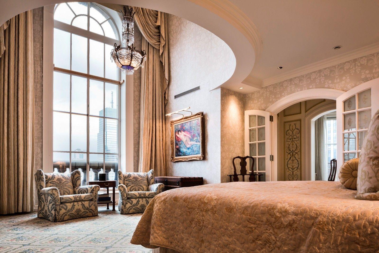 Expensive Bedrooms Glamorous Slaapkamer Uitzicht Penthouse Pierre Hotel Usa New York 2018