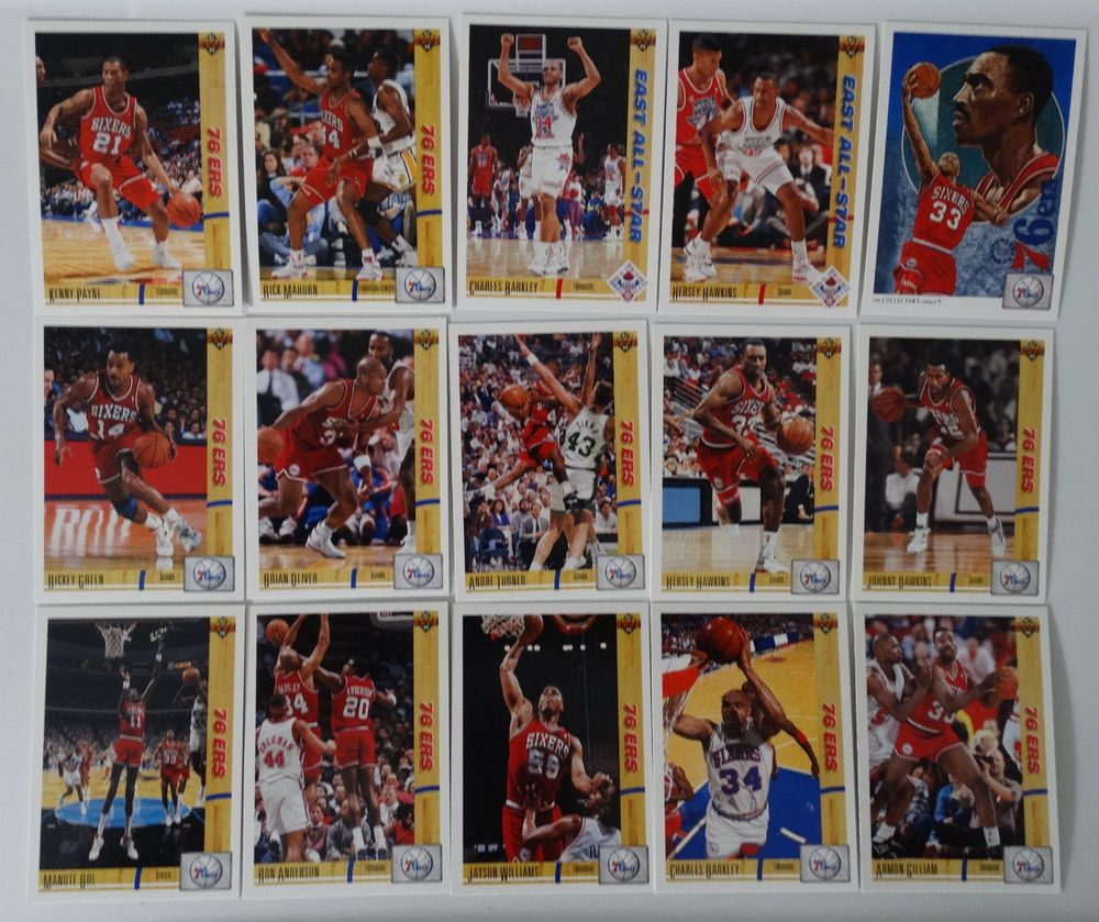199192 upper deck series 1 philadelphia 76ers team set of