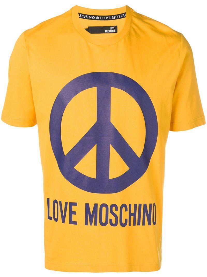 Logo Print T Shirt Moschino T Shirt Tee Shirts