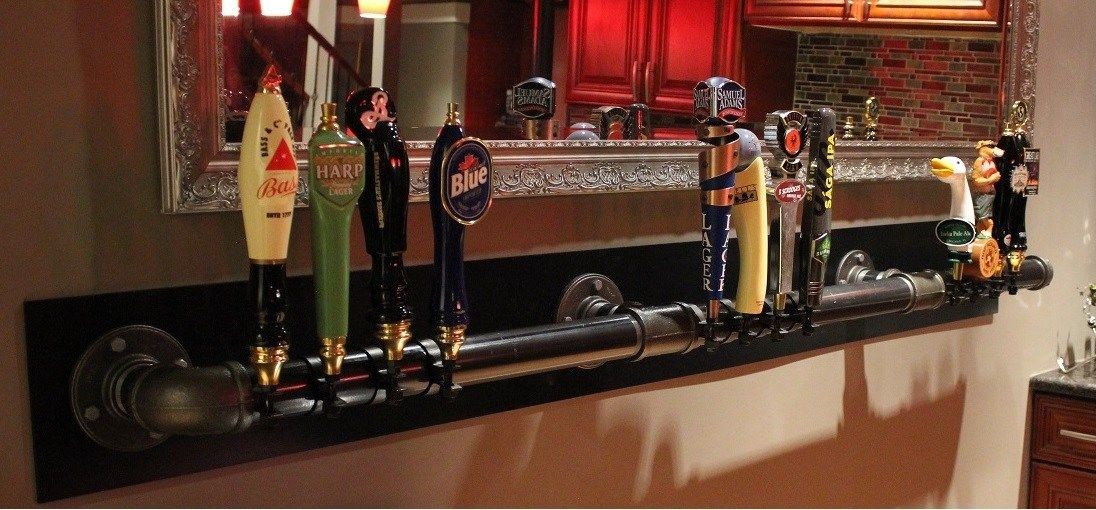 How to Build a Beer Tap Display DIY Home Bar (#QuickCrafter) | Best ...