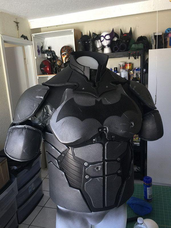 reznor9 39 s batsuit arkham origins v3 batman kost m. Black Bedroom Furniture Sets. Home Design Ideas