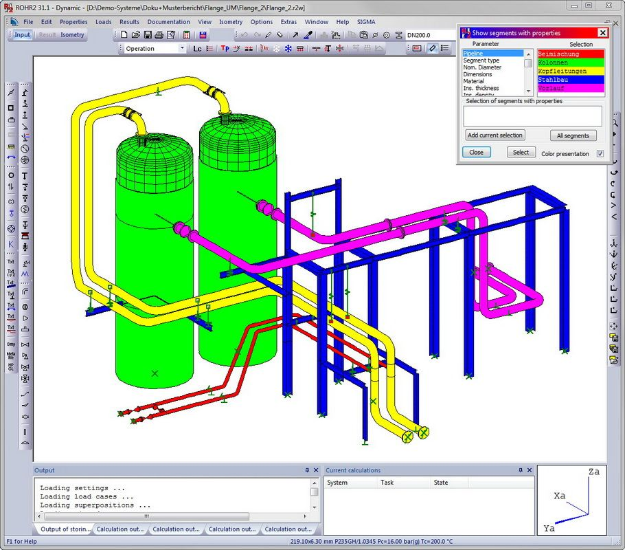 ROHR2 Pipestress Analysis Software - ROHR2 Pipe Stress Analysis