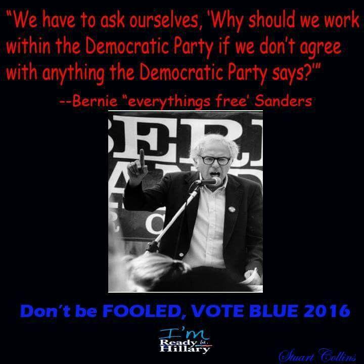 Bernie Sanders is a kook.